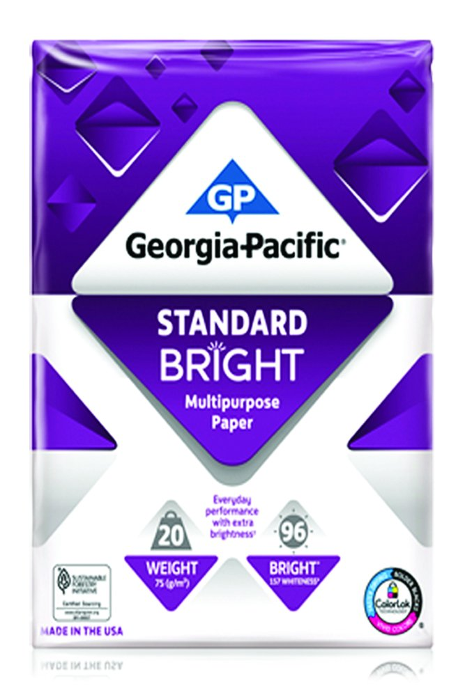 GP Copy and Print Paper, 8.5 x 11 Inches Letter Size, 96 Bright White, 20 Lb, 1 Reams (500 Sheets)
