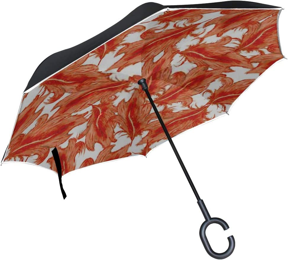 Double Layer Inverted Inverted Umbrella Is Light And Sturdy Hand Drawn Colorful Gypsy Indian Style Reverse Umbrella And Windproof Umbrella Edge Night