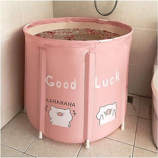 KOREY Desmontable Plegable Bañera para Adultos Bañera Cubo De ...