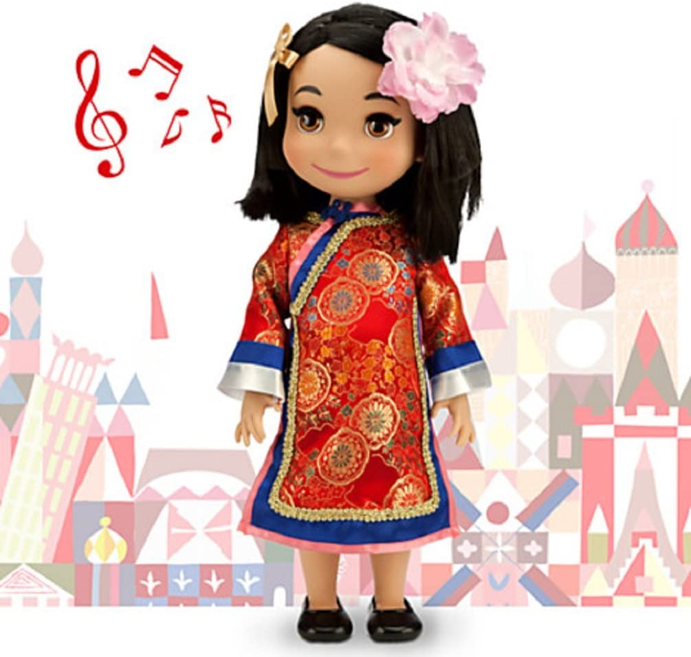 Amazon Com Disney It S A Small World China Singing Doll 16 New In Box Toys Games