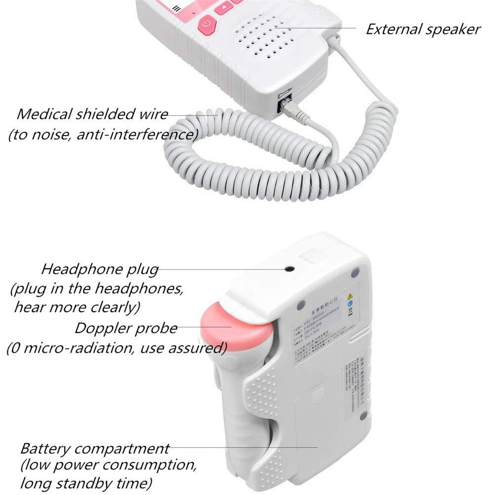 DGDD El Monitor Doppler fetal para Mujeres Embarazadas Mejora la frecuencia card/íaca no invasiva del Ritmo card/íaco en beb/és