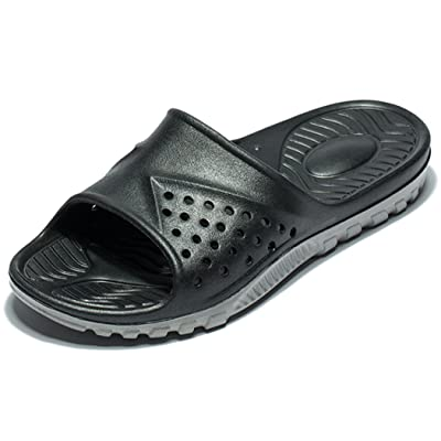 WODEBUY Men's Shower Sandals Antislip Fast Dry Flilp Flop Flats Bathroom and Gym Slider Sandals for Men | Sport Sandals & Slides