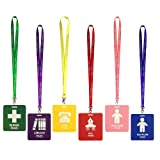 6 Pack Unbreakable PVC Hall Pass Lanyards,School