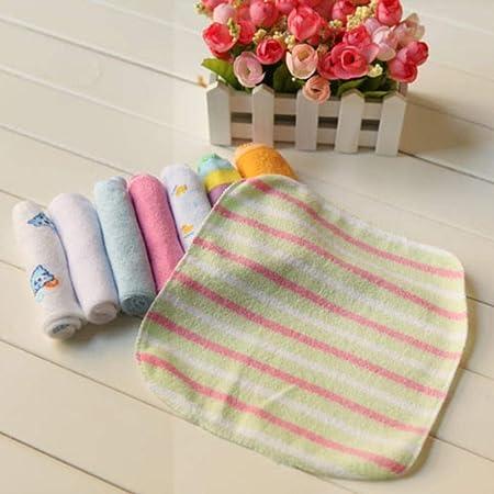 WanNing 8pcs / Pack Toalla De Alimentación para Bebés Pañuelo Cuadrado Pequeño, Trapo De Algodón para Bebés Súper Suave, Toalla De Bebé Natural, con Diseño Impreso, Toalla Suave para Recién Nacido: Amazon.es: