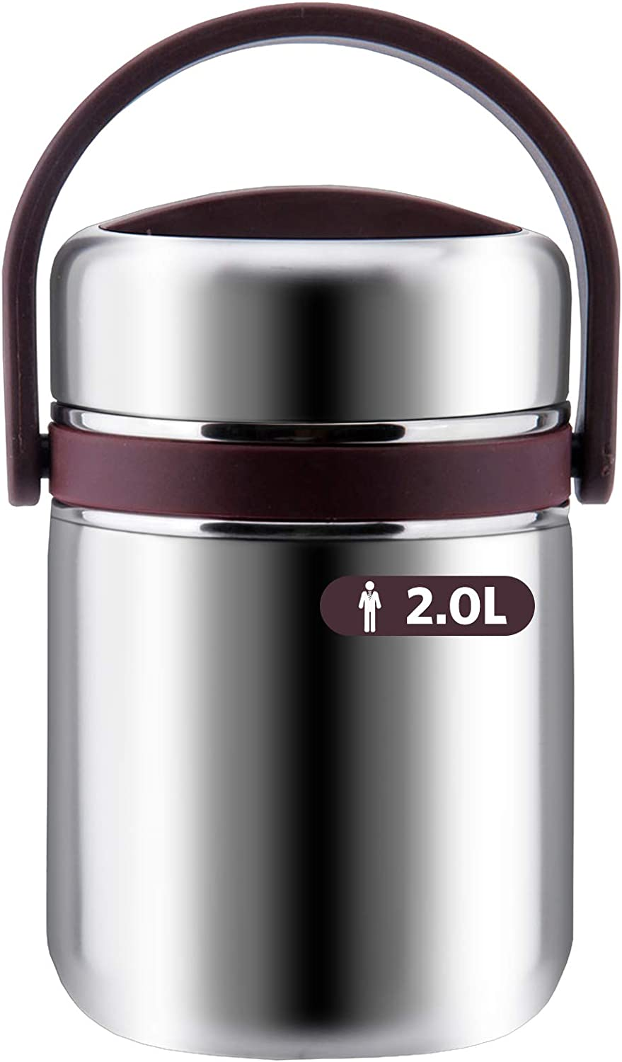 Soup Thermos Wide Mouth,3 Tier Food Thermos Jar, Leakproof Vacuum Bento Lunch Box Food Carrier 304 Stainless Steel Insulated Thermos Food Container Storage Carrier, Keep Warm 6-8 hours