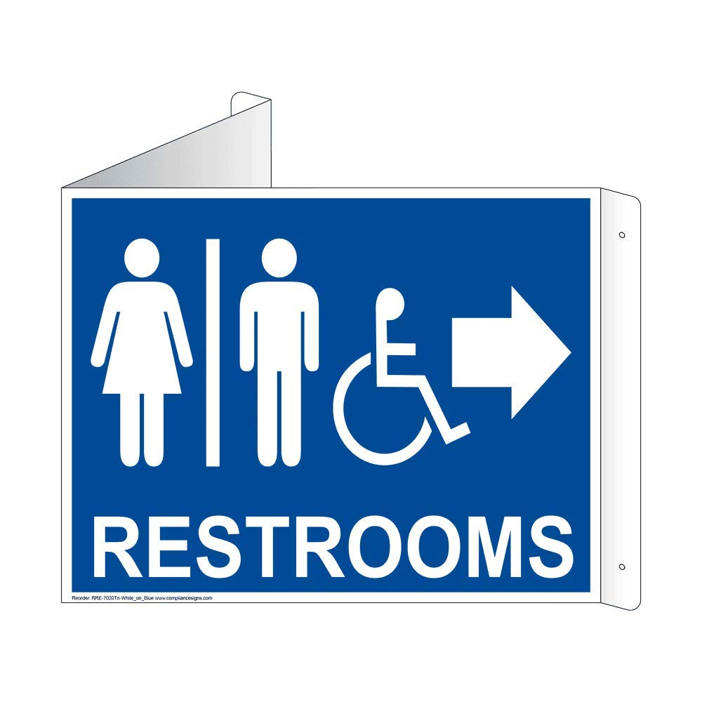 Amazon.com: compliancesigns aluminio 3d Proyección Restroom ...