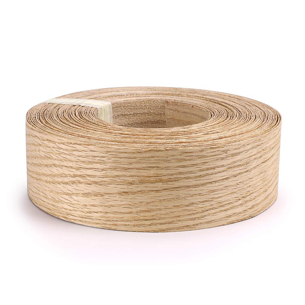 Skelang Red Oak 2'' X 50' Roll Wood Veneer Edge Banding Preglued Iron-On with Hot Melt Adhesive Edgebanding Flexible Wood Tape by Skelang