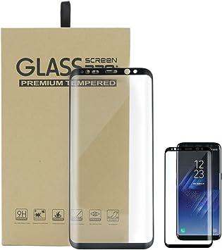 Protector De Pantalla para Samsung Galaxy S8 Vidrio Templado 3D ...