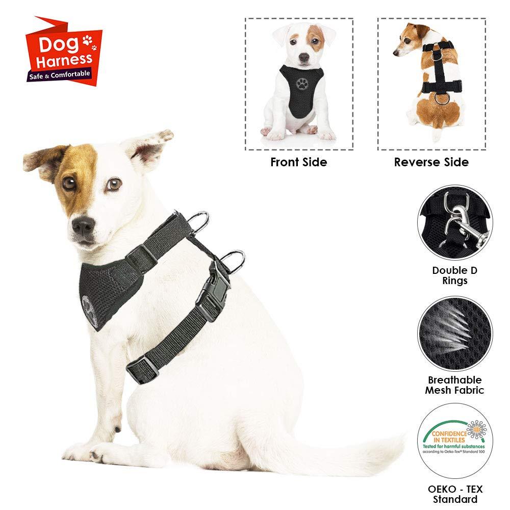 SlowTon Arné s para automó vil, (Sin cinturó n de Seguridad) Arné s de Chaleco para Mascotas para Perros Seguridad en el Coche Cuello Ajustable y Correa para el Pecho LT-PET8-0A-WRXXXS