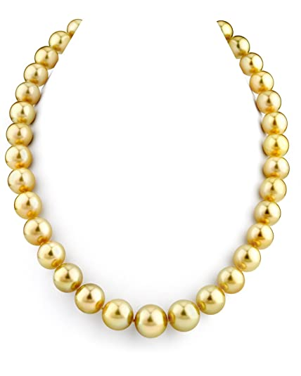 3c5d133fc6bb1 Amazon.com: THE PEARL SOURCE 14K Gold 11-13mm Round Genuine Golden ...
