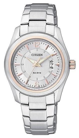 Citizen FE1014-56A - Reloj analógico de cuarzo para mujer, correa de acero inoxidable