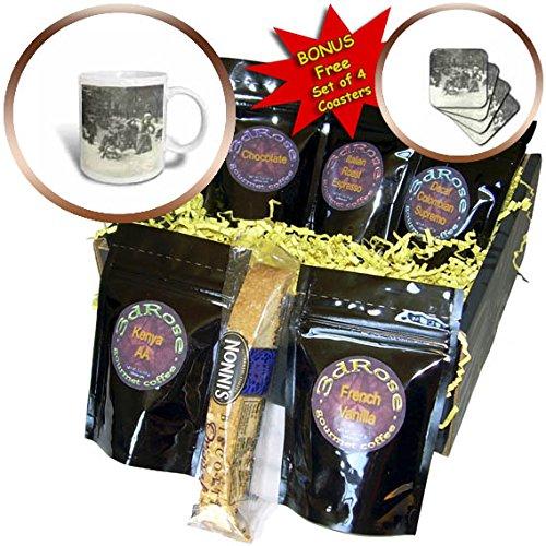 (3dRose TDSwhite - Winter Seasonal Nature Photos - Vintage Victorian New York Winter Street - Coffee Gift Baskets - Coffee Gift Basket (cgb_284936_1))
