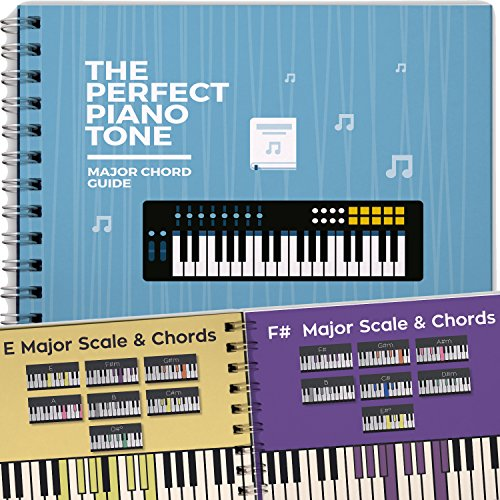 The Perfect Piano Tone, Music Chords Guide for Piano, Major Chords for Beginners, Learn How to Play Scales for Keyboard, Chart Lessons Progressions and Notes in a Book!