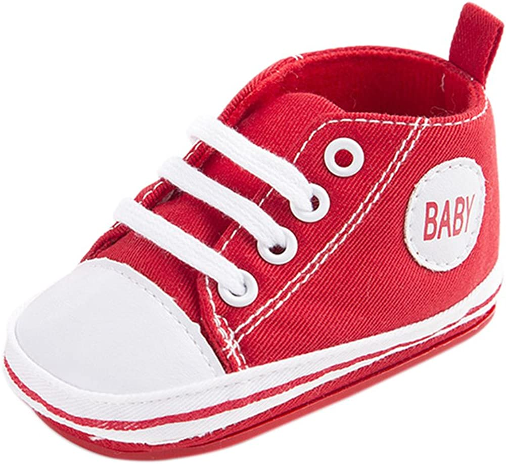 Zapatilla De Deporte Linda De La Lona Del Beb/é Zapato Suave Antideslizante Zapato 0-18M
