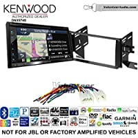 Volunteer Audio Kenwood DNX574S Double Din Radio Install Kit with GPS Navigation Apple CarPlay Android Auto Fits 2007-2014 Non Amplified Toyota FJ Cruiser