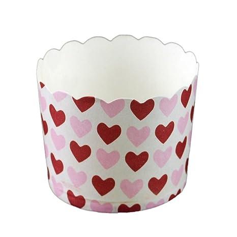 DUFUSTORE 45pcs Mini molde para Cupcake Muffin Pastel colores papel copa de pastel Liners