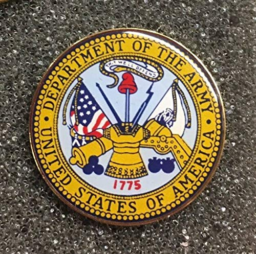 Handsome Enamel Lapel pins - Department of The Army Lapel PIN US Military Made in America - Unique Pins and Brooches -