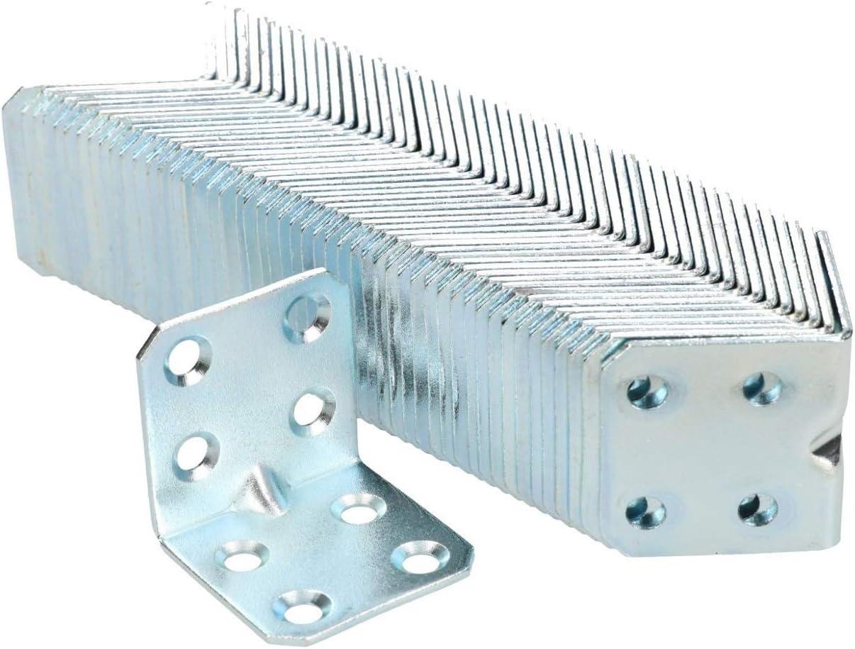 KOTARBAU Winkelverbinder 30 x 30 x 30 x 1,5 mm mit Sicke Stahl Bauwinkel Montagel/öcher M/öbelverbinder Verzinkt Schwerlast Holzverbinder Montagewinkel 100