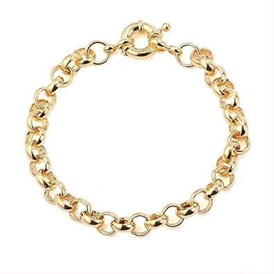 9ct 9k Yellow Gold Plated Men Ladies Belcher Chain Lovely Bracelet . 8.7