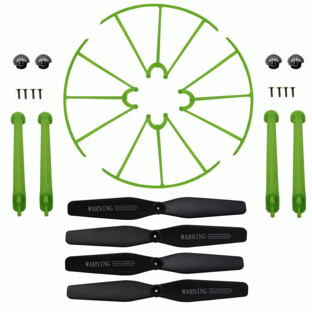 Gbell Landing Skid+Blade Propeller+Propeller Protectors Spare Set for Syma X5HW X5HC (A)
