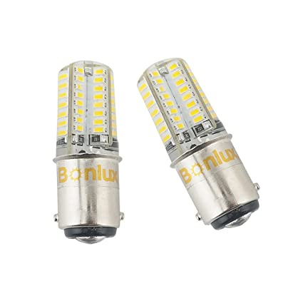 Amazon.com: Bonlux 2-Pack LED Ba15d Bulb Double Contact Bayonet Base 1076 1130 1176 1142 LED Replacement DC10V-18V Warm White 3W 250lm 25W Equivalent: ...