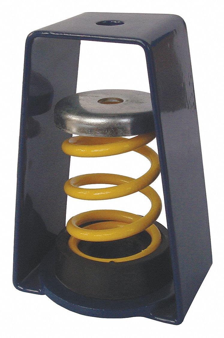 Hanger Mount Vibration Isolator, Spring Isolator Type, 130 to 175 lb. Capacity Range
