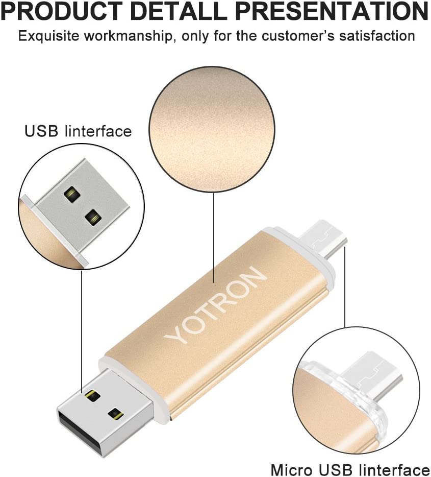 OTG Flash Drive-USB Memory Stick for Computers Android Flash Drive 32 GB USB Flash Drives Metal USB Thumb Drives Colorful USB Stick Pen Drive 32 GB Water/&Shcok Resistant Frosted by YOTRON