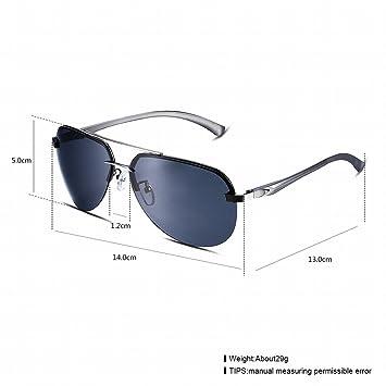 Gafas de Sol Gafas de Sol Polarizadas para Hombre Lente Ovalada en Forma de Lente Sapo