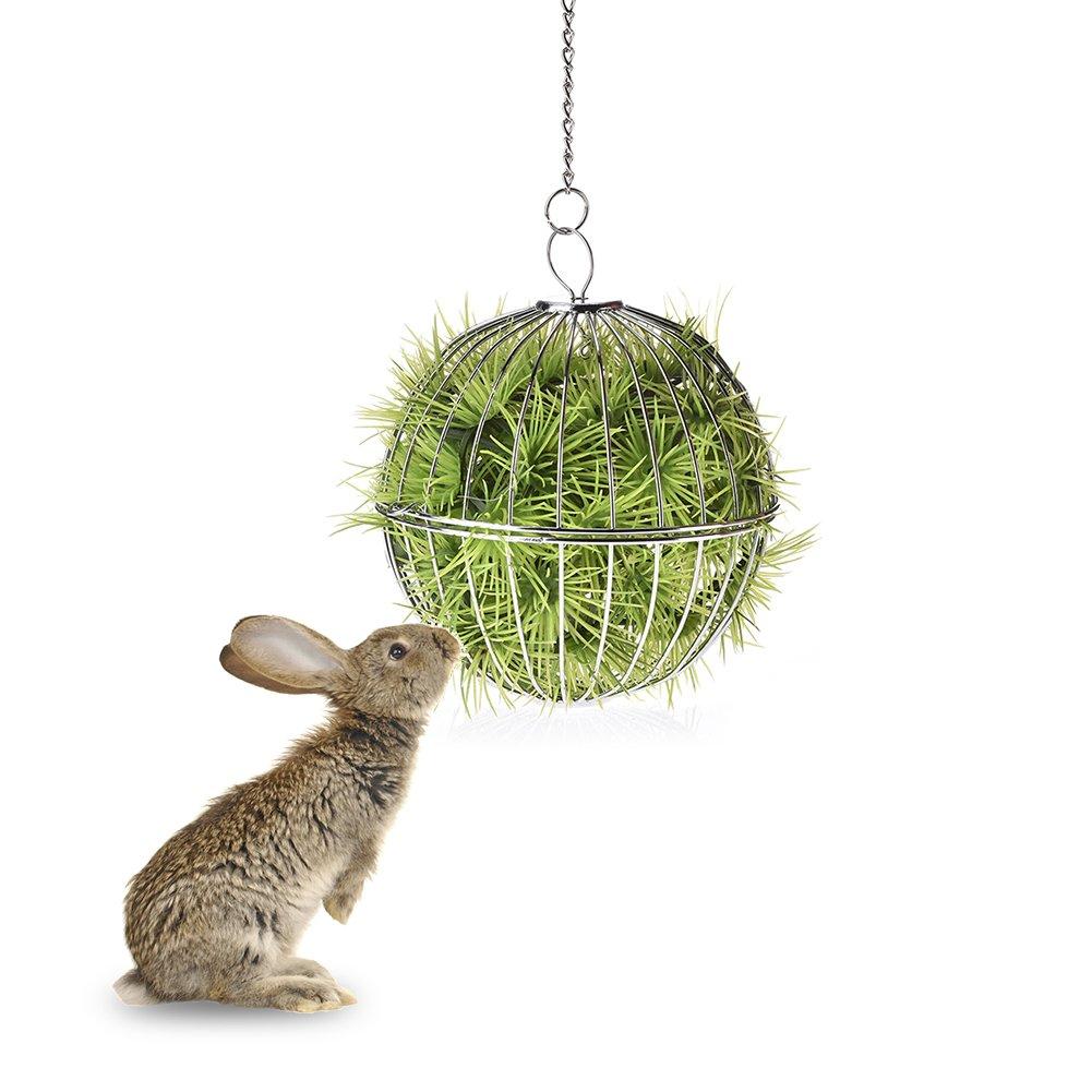 iBellete Pelota de hierba de conejo de acero inoxidable para ...