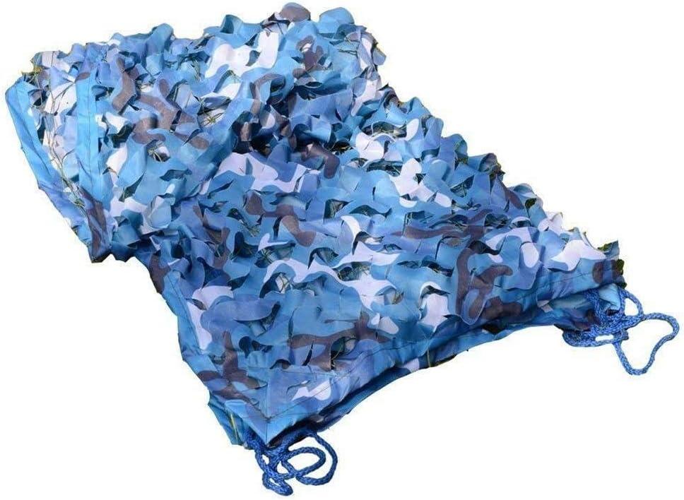迷彩ネッティングブルーオックスフォード生地用デンズ隠す寝室迷彩ネットカーカバーネットサンシェードテント、海用迷彩池デッキパドック中庭日焼け止めネット ZHAOFENGMING (Color : 青, Size : 8×8M) 青 8×8M