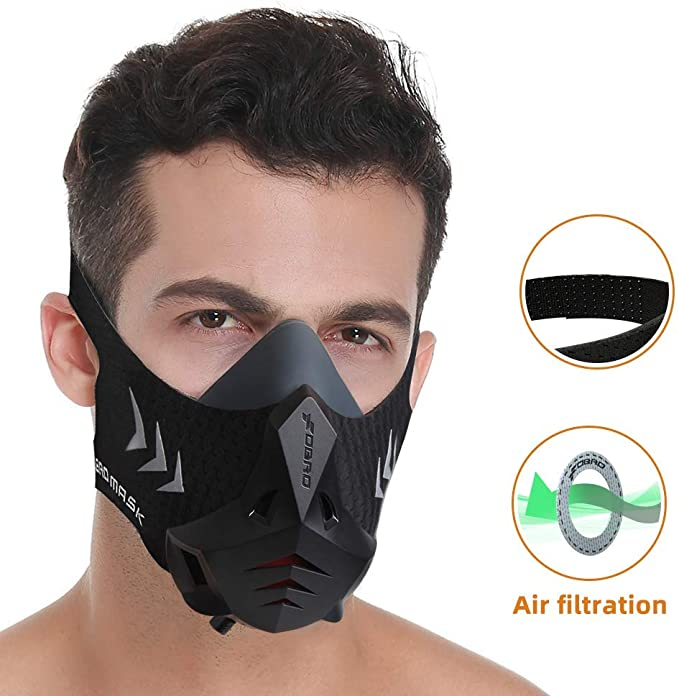 Mascarilla para running con filtro de aire