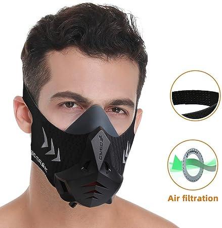 FDBRO Sports Mask Pro Workout Mask Fitness, Running,Resistencia, Cardio, Máscara de Ejercicio para Fitness Training Sport Mask con Filtro De algodón: Amazon.es: Deportes y aire libre