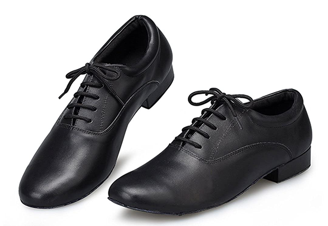 MGM-Joymod Mens Classic Comfort Lace-up Leather Closed Toe Salsa Tango Samba Jazz Rumba Ballroom Latin Modern Dance Shoes
