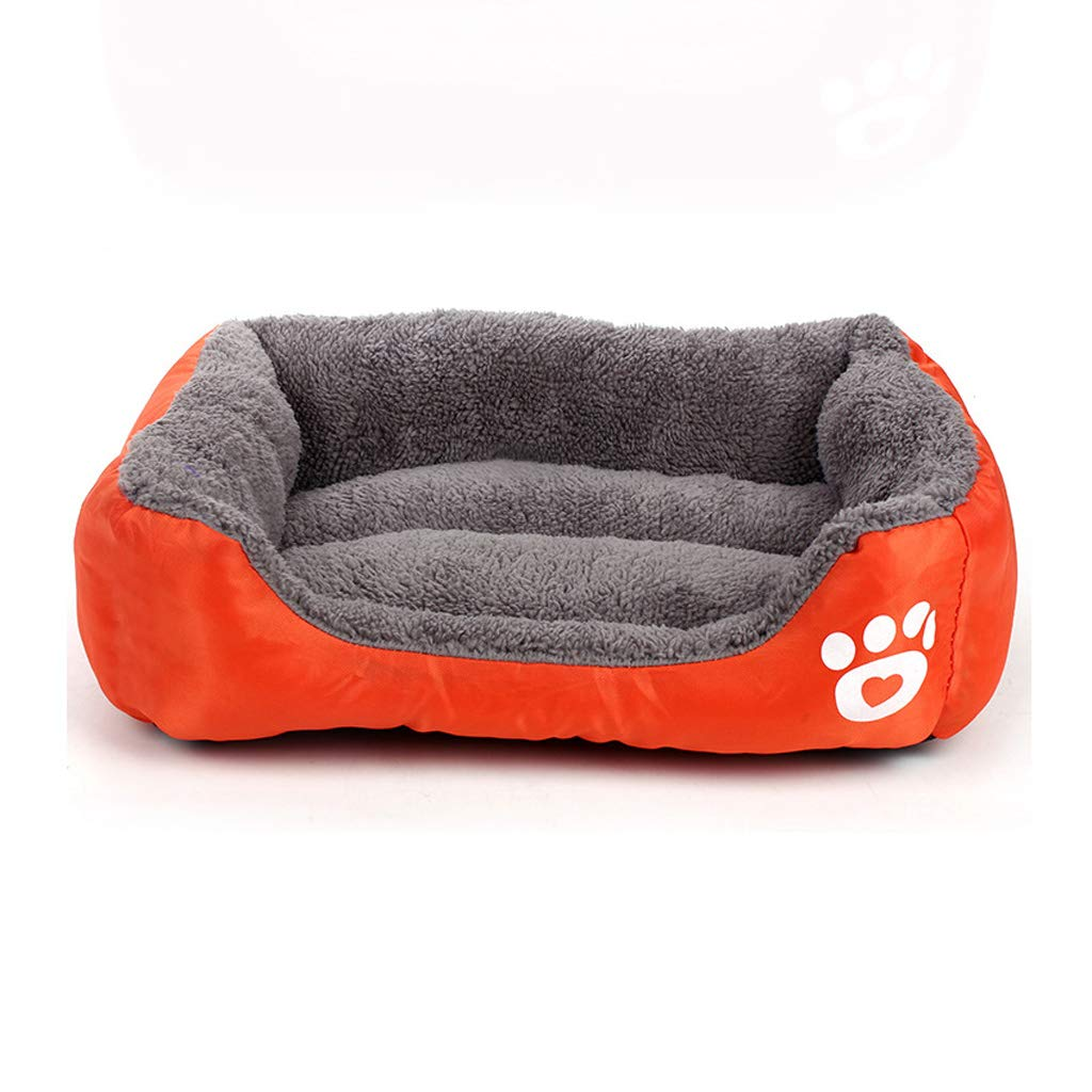 orange XXXL orange XXXL Pet Bed Deluxe Soft Washable Dog Bed,Cat Bed Warm Basket Cushion with Plush Lining (color   orange, Size   XXXL)