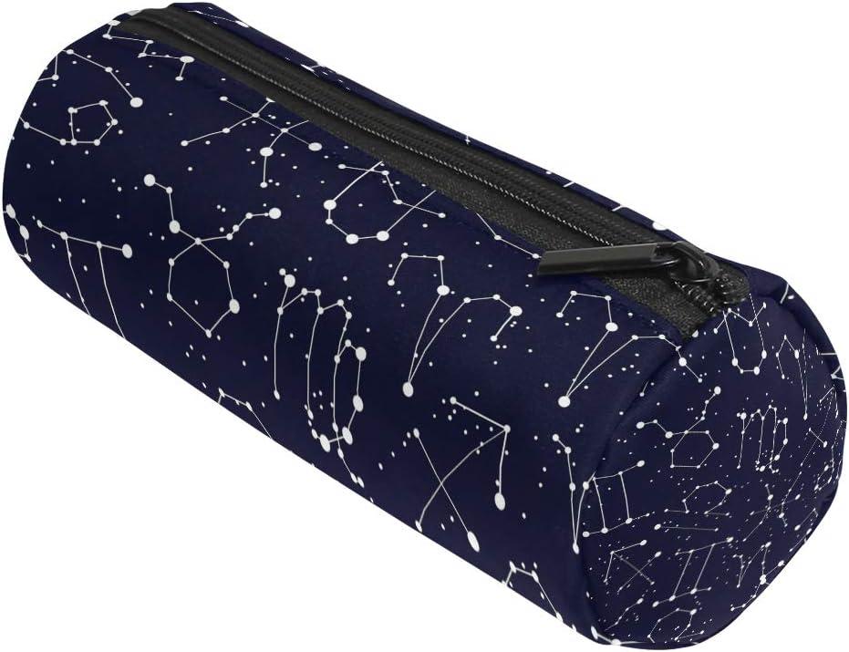 ALAZA Galaxy Constellation - Estuche cilíndrico con Cremallera, Gran Capacidad, para bolígrafos, Estudiantes, papelería, cosméticos, Maquillaje: Amazon.es: Oficina y papelería
