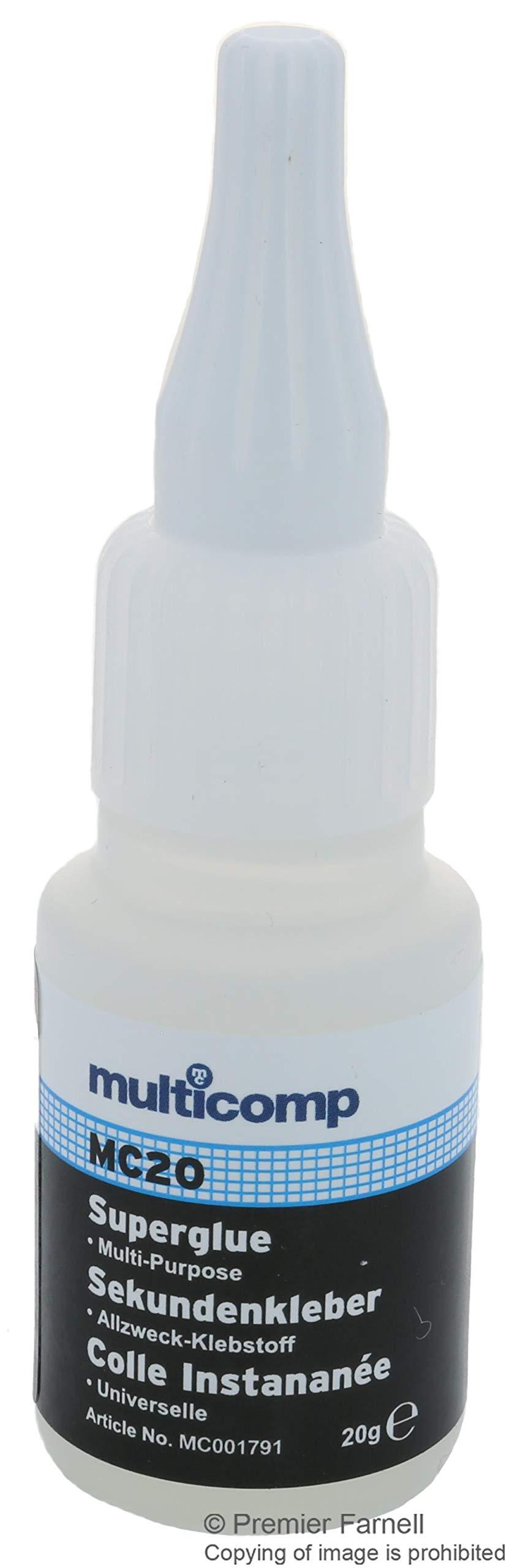 MC001791 - Adhesive, Low Viscosity, MC20 Series, 20 g, Cyanoacrylate, Humidity (Pack of 2) (MC001791)