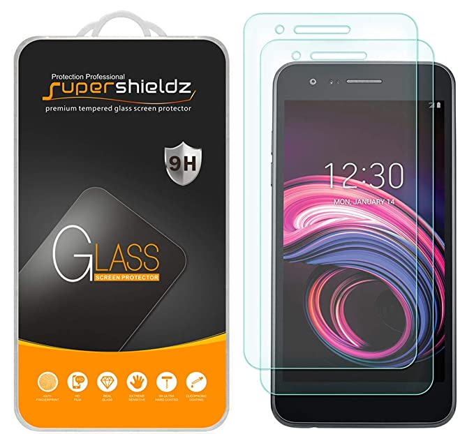 [2-Pack] Supershieldz for LG (Aristo 3) Tempered Glass Screen Protector,  Anti-Scratch, Bubble Free, Lifetime Replacement