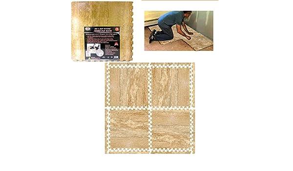 Amazon sq ft eva interlocking mats room floor foam stone