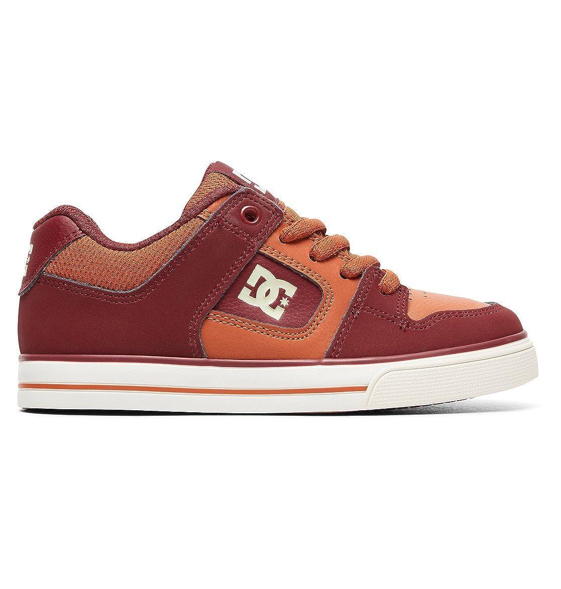Rouge - Burgundy Tan DC chaussures - Pure - baskets Basses - Garçon 36 EU