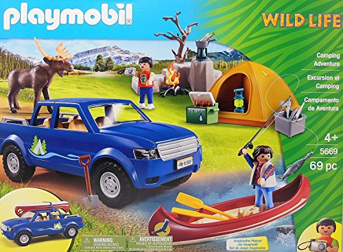 PLAYMOBIL Wildlife Kids Camping Adventure (5669) 69 Pieces Toy Set