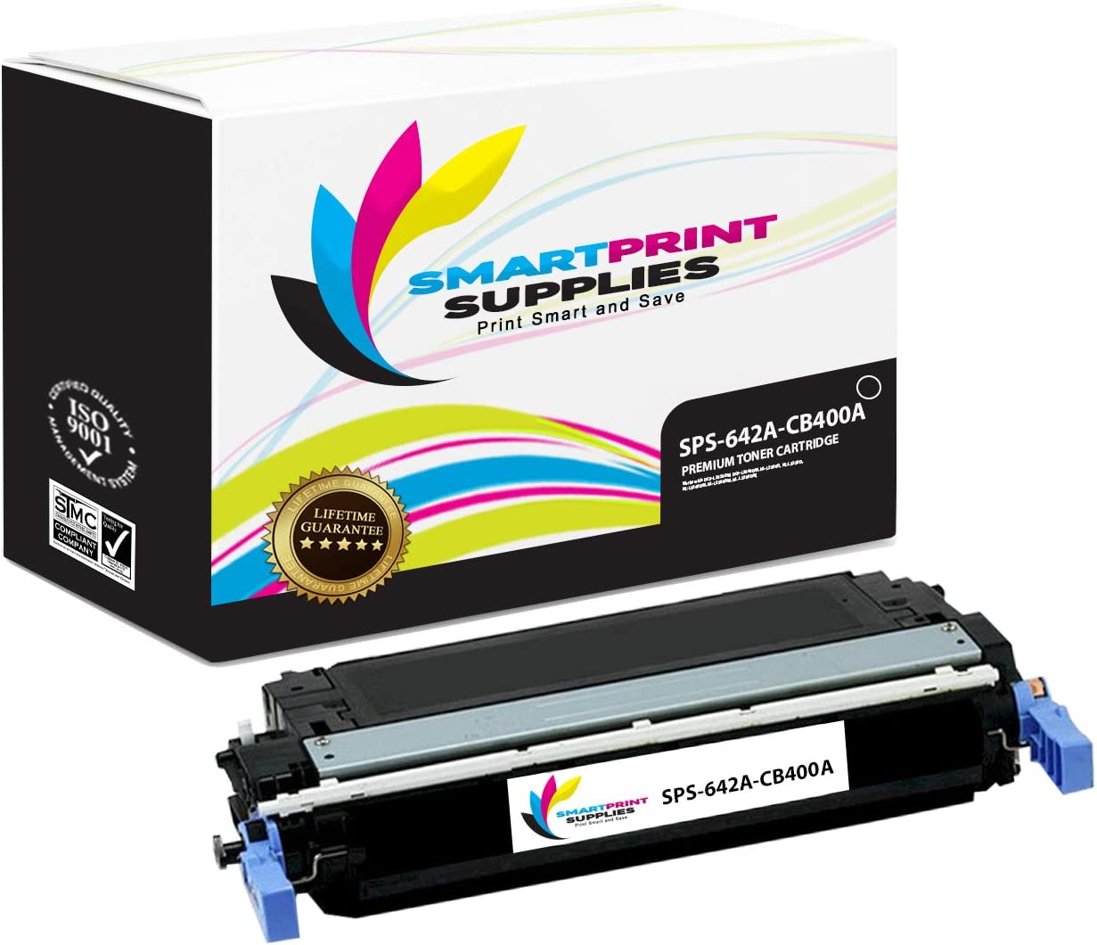 7,500 Pages Smart Print Supplies Compatible 642A CB400A Black Toner Cartridge Replacement for HP Color Laserjet CP4005 Printers