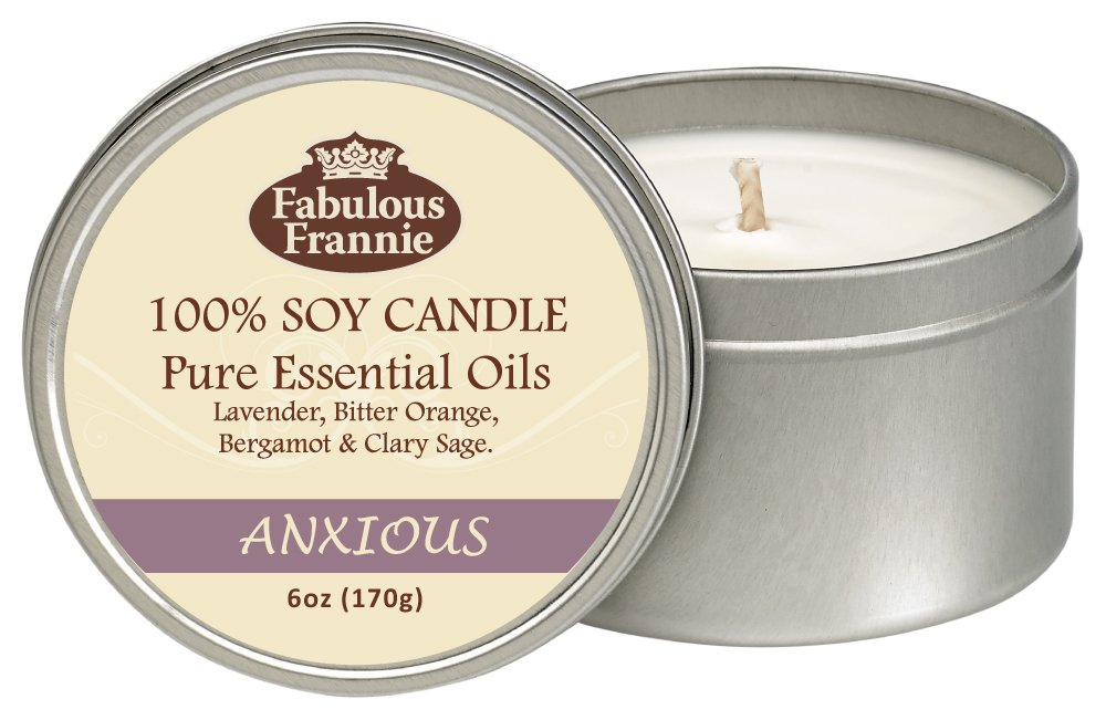 Fabulous Frannie Anxious 6oz All Natural Soy Candle made with Pure Essential Oils