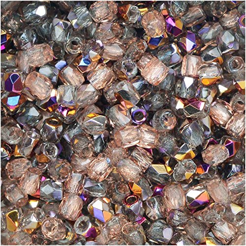 Fire Crystal Czech Polished 50 - True2 Czech Fire Polished Glass, Faceted Round Beads 2mm, 50 Pieces, Crystal Sliperit