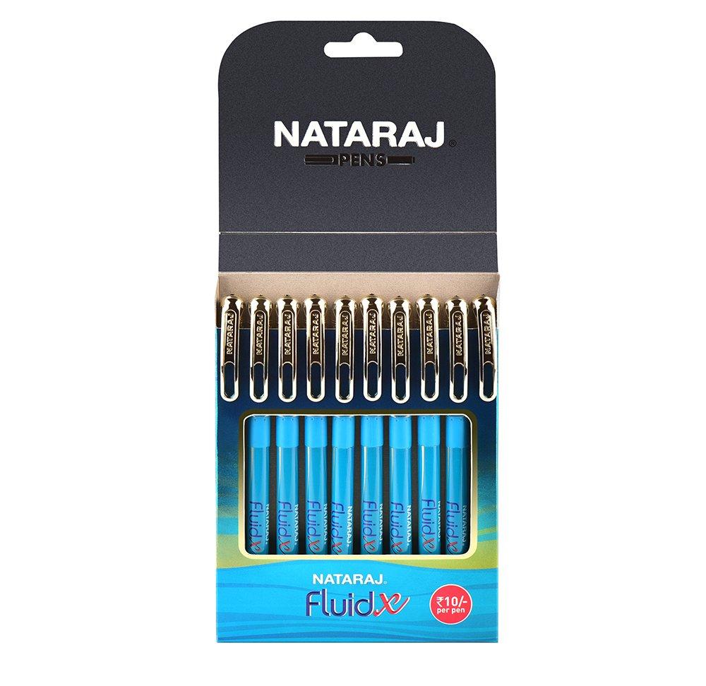 Nataraj Fluid X Ball Pens - Pack of 10