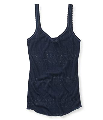 b8bc0c87e6 Amazon.com  Aeropostale Womens Sheer Mesh Tank Top  Clothing