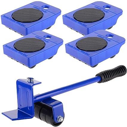 Mengonee Kit de herramienta de mano de ruedas Corner Motores 5pcs Transporte Muebles levantador de ruedas