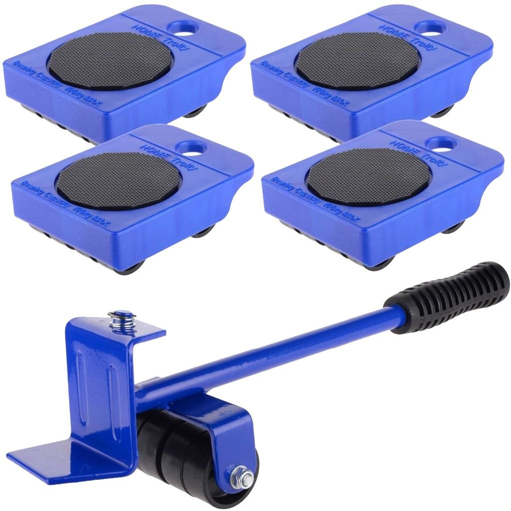 Firiodr 5Pcs Wheeled Corner Movers Hand Tool Furniture Transport Lifter Wheel Slides Mover Rollers Kit Home