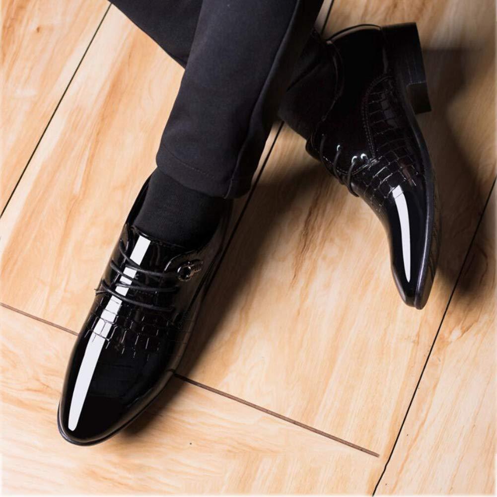 FuweiEncore Herrenschuhe Leder Spring Herbst Formale Schuhe Spitz up Business-Schuhe Lace up Spitz Gentleman   Hochzeit Party & Abend (Farbe   Schwarz, Größe   46) (Farbe   Schwarz, Größe   37) 948a36