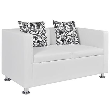 Arredamento Divano 2 Posti.Vidaxl Divano 2 Posti Pelle Artificiale Bianco Divanetto Poltrona Arredo Sofa