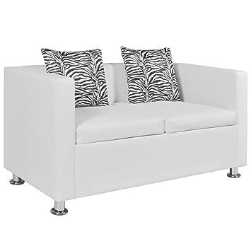 vidaXL Sofa 2-Sitzer Luxus-Kunstleder Loungesofa Couch Sitzmöbel mit ...